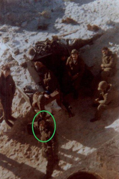 El oficial de la Fuerza Aérea en las islas durante la guerra