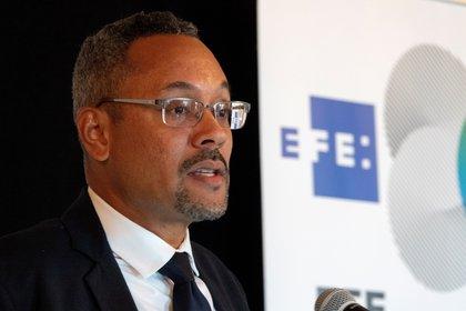En la imagen, Christopher Barnes, presidente de la Sociedad Interamericana de Prensa (SIP). EFE/Cristobal Herrera/Archivo