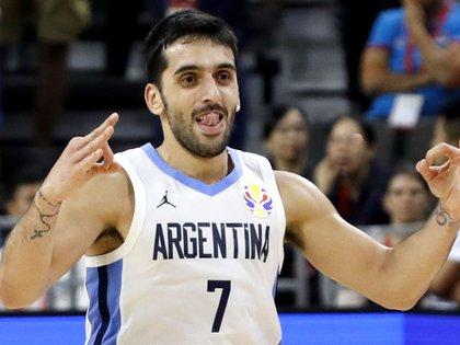 Basketball - FIBA World Cup - Quarter Finals - Argentina v Serbia - Dongguan Basketball Center, Dongguan, China - September 10, 2019  Argentina's Facundo Campazzo reacts during the match REUTERS/Kim Kyung-Hoon