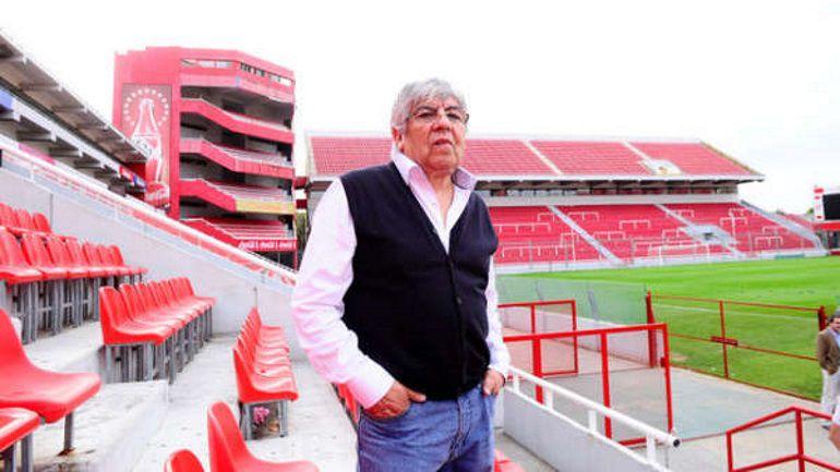Hugo Moyano preside Independiente desde 2014 y en diciembre buscará una nueva reelección