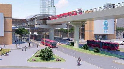 Maqueta en 3D del metro elevado en Bogotá, tomado de bogota.gov.co