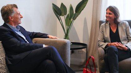 Mauricio Macri y Marina Simian