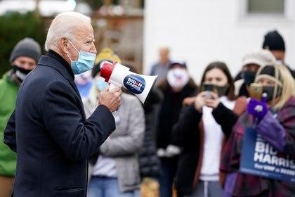 Biden en Scranton, Pensilvania. SREUTERS/Kevin Lamarque