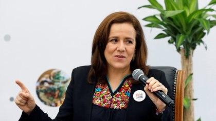Margarita Zavala hablando durante el decimosexto Encuentro Nacional de Turismo en México (Foto:  Reuters / Carlos Jasso)