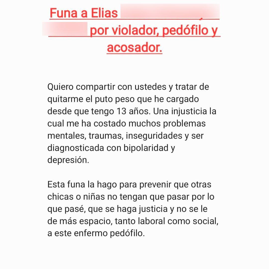 La sobrina de Benjamín Vicuña denunció que fue violada