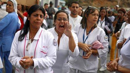 Los manifestantes piden insumos para la atención médica y mejora de salarios (EFE)