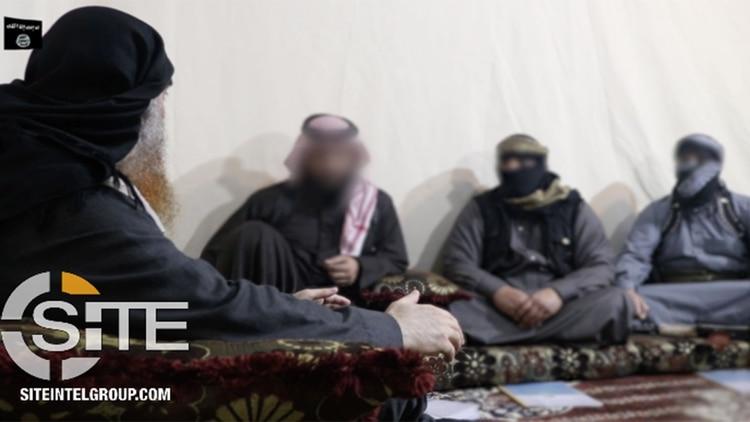 Al Baghdadi hablando con sus seguidores