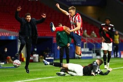 Atlético Madrid igualó 1-1 ante el Bayern Múnich Foto REUTERS/Sergio Perez