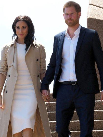 Meghan Markle y el príncipe Harry en Sidney, Australia.