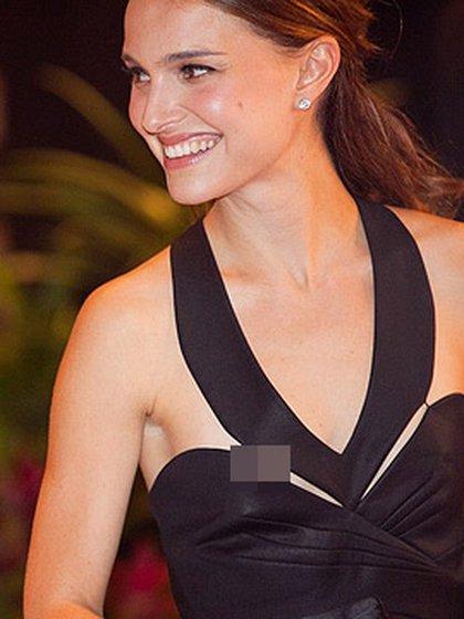 Natalie Portman y un vestido que mostró más de lo debido