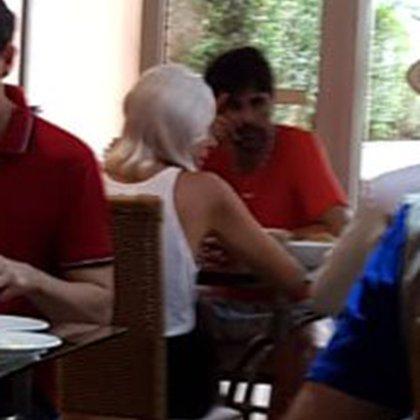 Desayunó en un hotel de San Pablo (Crédito: @ferigle)