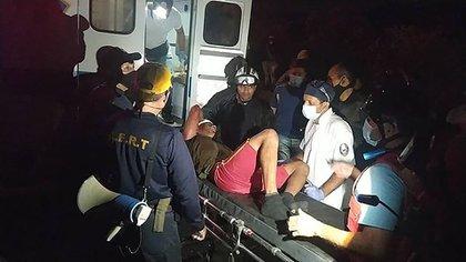 El accidente en Apartaderos dejó varios heridos y muertos. Cortesía Protección Civil Táchira