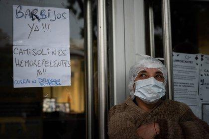 Una protesta de médicos por falta de equipo de protección en Buenos Aires, Argentina (Franco Fafasuli)