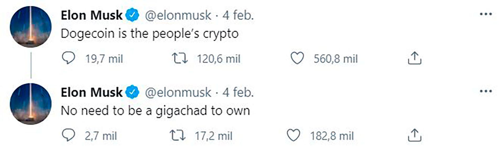 Elon Musk apoya el dogecoin