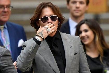 Johnny Depp al salir de la corte en julio (Reuters/ Toby Melville/ archivo)
