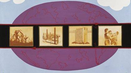 Elda Cerrato - Repertorio de los sueños III, de la serie _De la realidad_, acrílico sobre tela, 1974, 66 x 96 cm