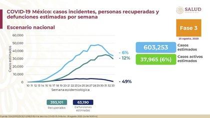 Más de 393.00 personas han sanado (Foto: SSA)