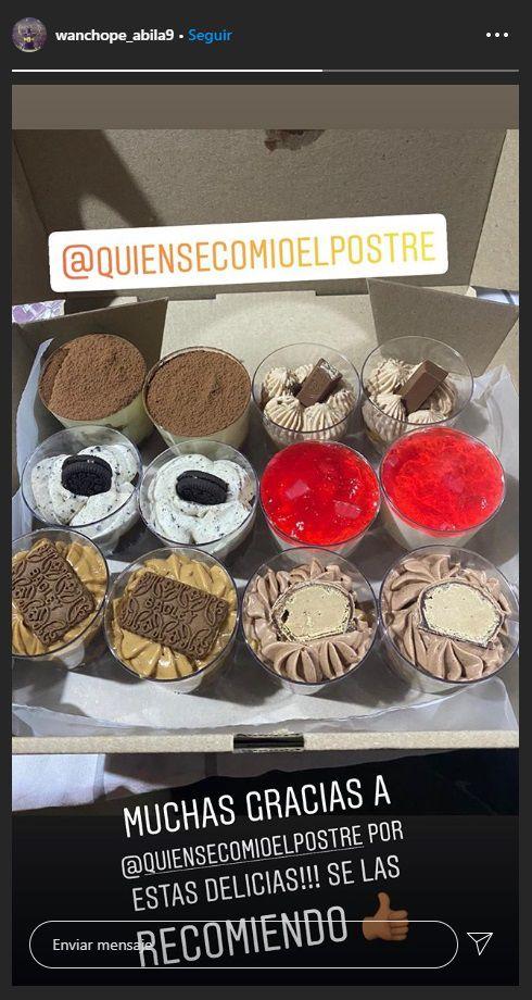 wanchope ábila instagram postres sf