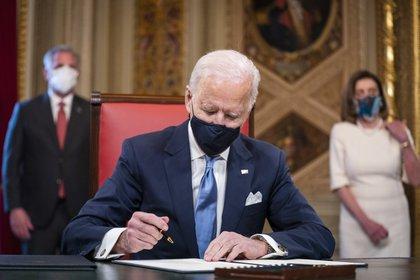 En la imagen el presidente de Estados Unidos, Joe Biden. EFE/EPA/JIM LO SCALZO /Archivo