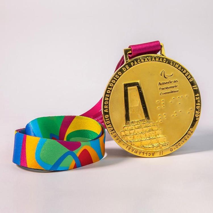 Una medalla de oro de los juegos Parapanamericanos