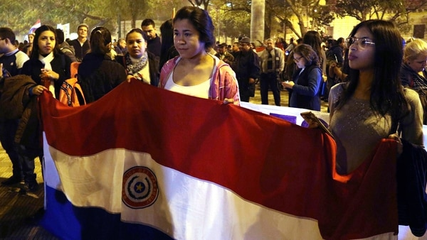 Autoconvocados protestaron contra la corrupción en el país (EFE)