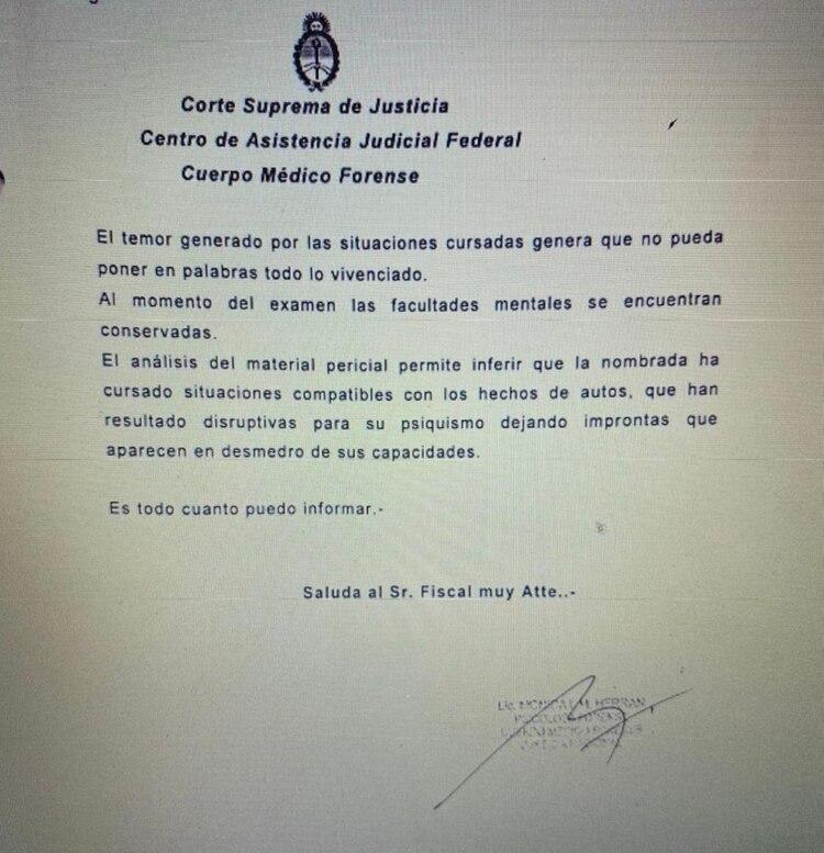 La pericia de Mónica Fernández sostiene que ella
