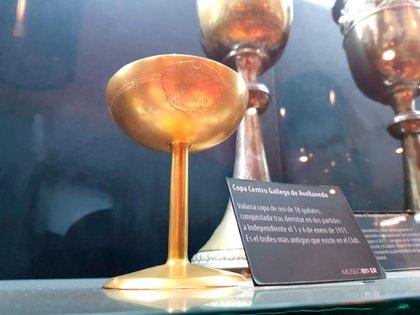 La Copa más antigua que tiene River en su museo (Crédito: Prensa River)