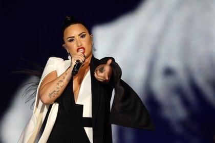 Lovato confesó que ha escrito canciones para mujeres (Foto: EFE/Jose Sena Goulao)