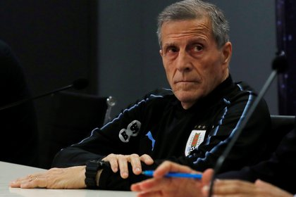 Tabarez es entrenador de Uruguay desde el 2006-  REUTERS/Ammar Awad