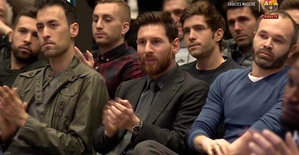 """La emoción de Mascherano en el homenaje del Barcelona en su despedida: """"El sueño se terminó"""""""