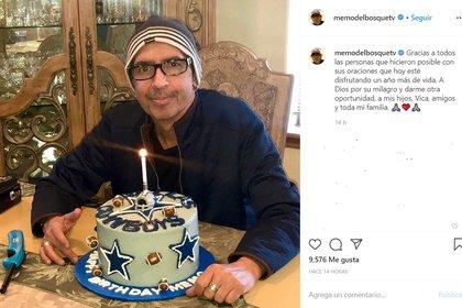 Memo del Bosque agradeció llegar a un cumpleaños más