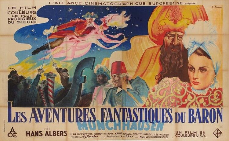 """El Barón supuestamente viajó con un águila o agarró una munición en el aire, todo esto originó una gran cantidad de libros en literatura infantil, leyendas y películas como """"las aventuras del Barón de Münchhausen"""""""