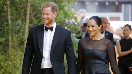 Los duques han sido criticados por sus viajes en jets privados (AFP)