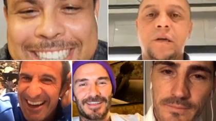 Ronaldo, Roberto Carlos, Luis Figo, David Beckham e Iker Casillas tuvieron una reunión virtual