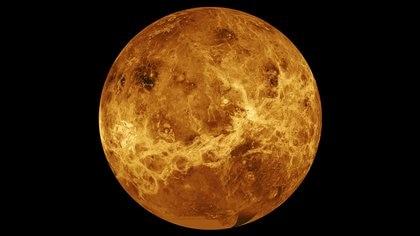 Foto de Venus tomada por la sonda Magallanes de la NASA