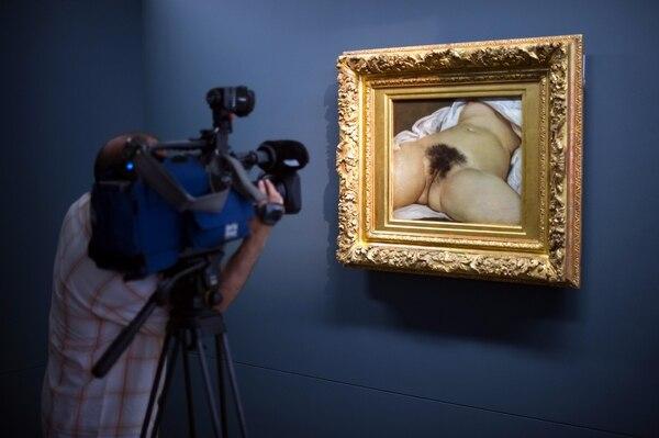 """""""El origen del mundo"""", expuesto en el museo Courbet de Ornans, en Francia (AFP/ Sebastien Bozon)"""