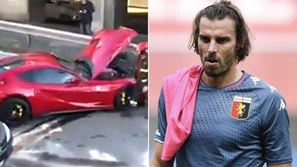 Así quedó la Ferrari de Federico Marchetti tras el accidente