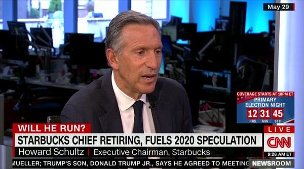 Howard Schultz podría ser candidato a la presidencia de Estados Unidos.