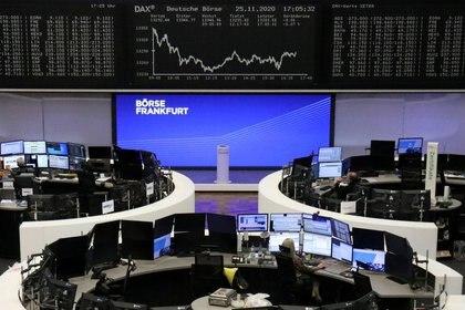 La Bolsa de Valores de Frankfurt es una que siente la falta de un acuerdo de salida consensuado del Reino Unido (REUTERS / Staff).