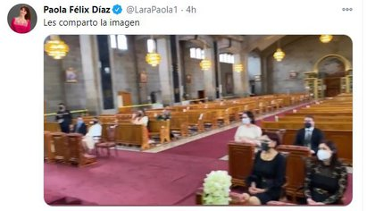 The official said there were only eight guests (Photo: Twitter)
