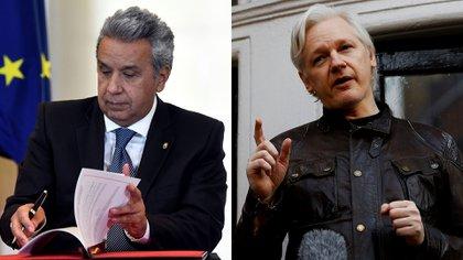 Lenín Moreno y Julian Assange