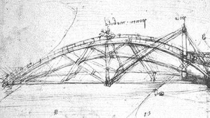 El puente plegable del genio italiano