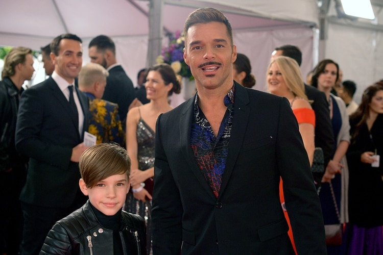 Ricky Martin con su hijo Matteo (AFP)