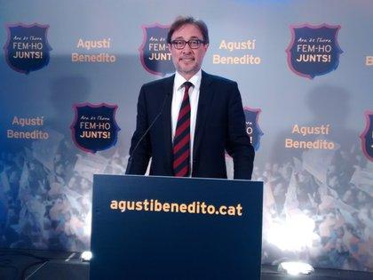 Agustí Benedito será uno de los candidatos a presidente del Barcelona