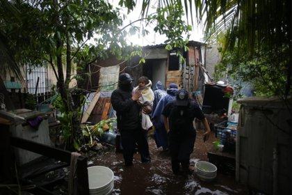 Imágenes de la tormenta tropical Gamma el sábado 3 de octubre en Cozumel (Foto: Twitter @SSP_QROO)
