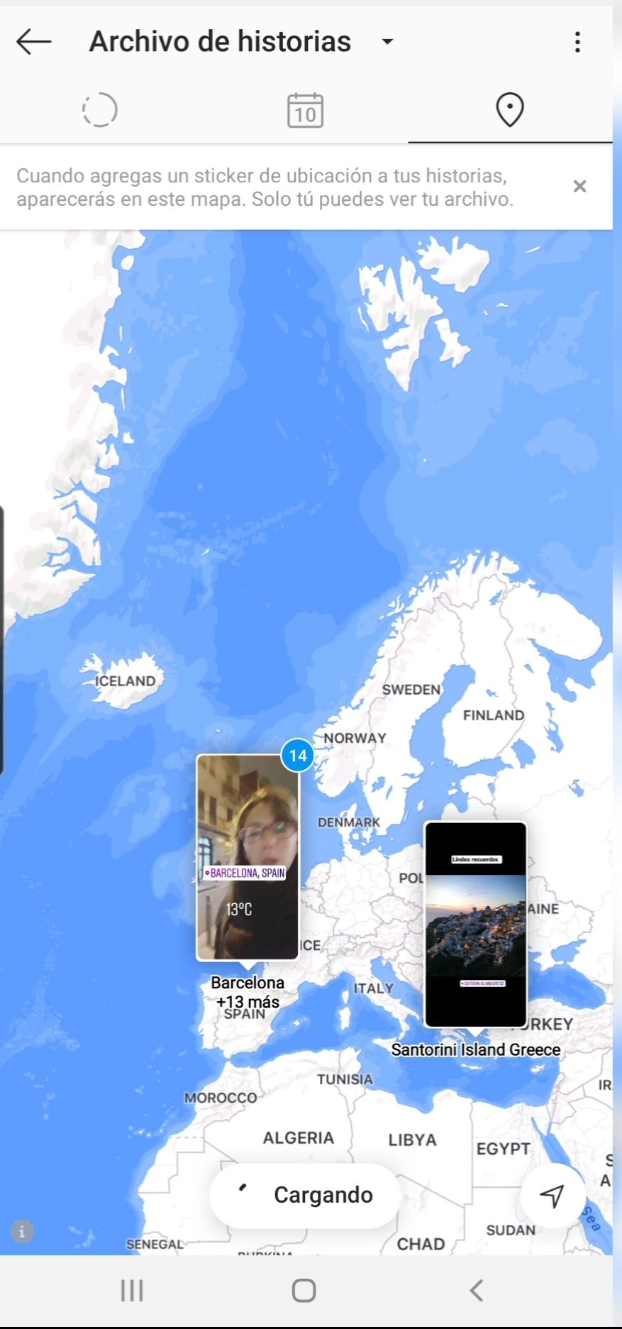 Archivo de mapa en Instagram