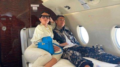 El lujosos avión privado de Georgina Rodriguez y Cristiano Ronaldo