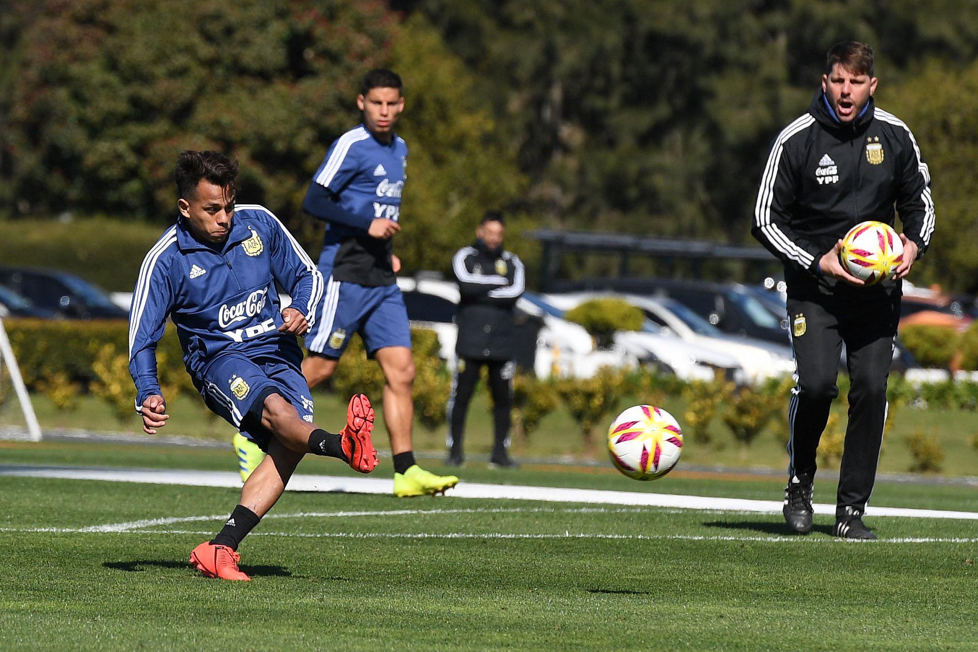 Estuvo citado a la selección argentina Sub 23 que se prepara para el Preolímpico de Colombia (Foto: Maximiliano Luna)