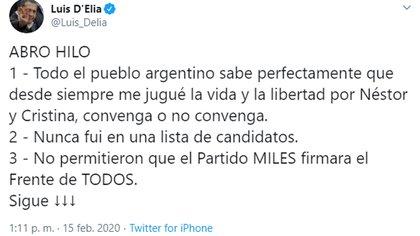 El ex líder piquetero criticó -sin nombrarlo- a Alberto Fernández pero defendió la conducción política de Cristina Kirchner