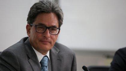 BOGOTÁ. 16 de abril de 2021. Alberto Carrasquilla, ministro de Hacienda. (Minhacienda-Manuel Leonardo Basto)